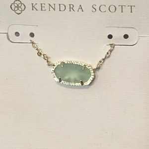 NWT Kendra Scott Elisa necklace gold blue/green